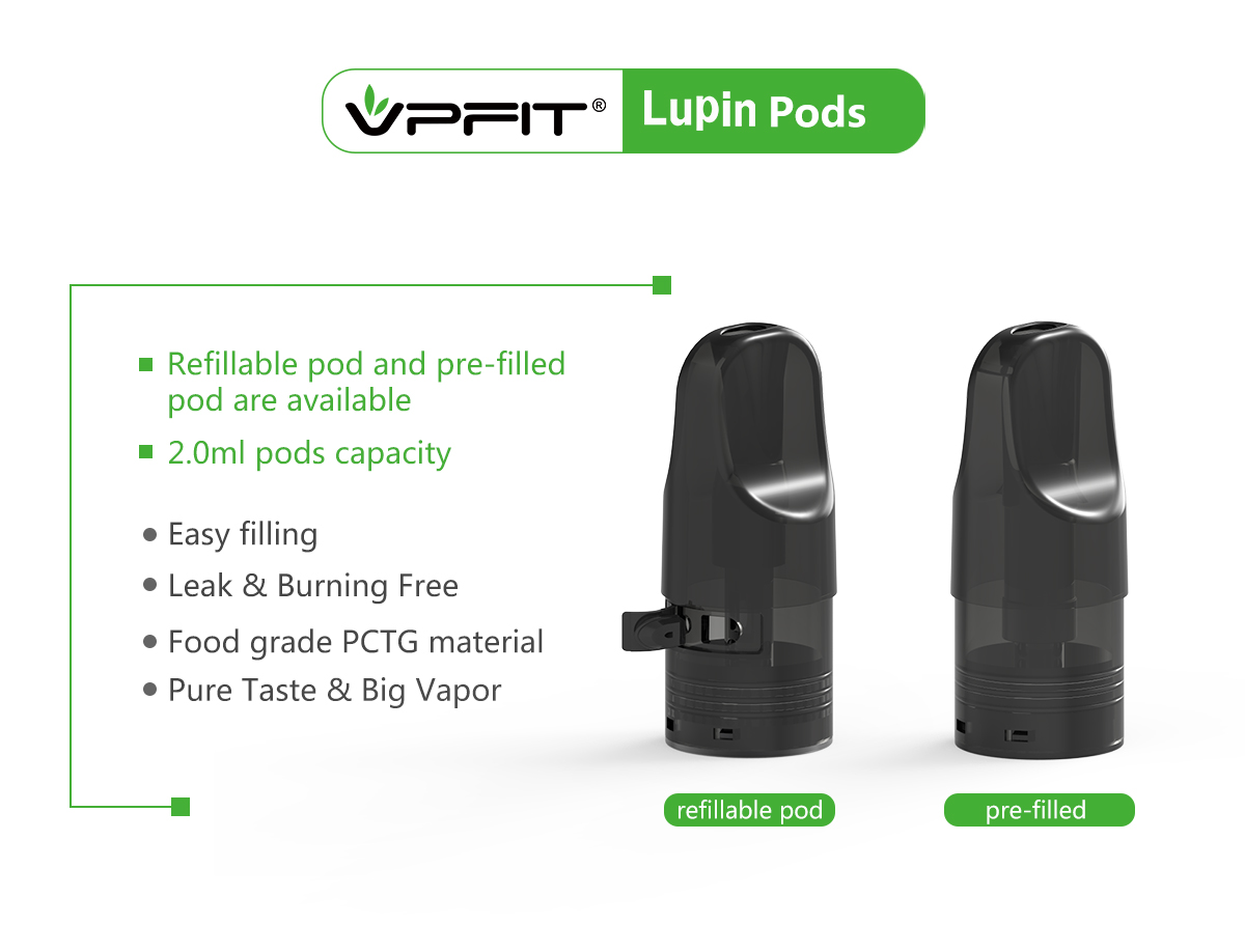 two kinds(refillable & pre-filled pod vape) of lupin
