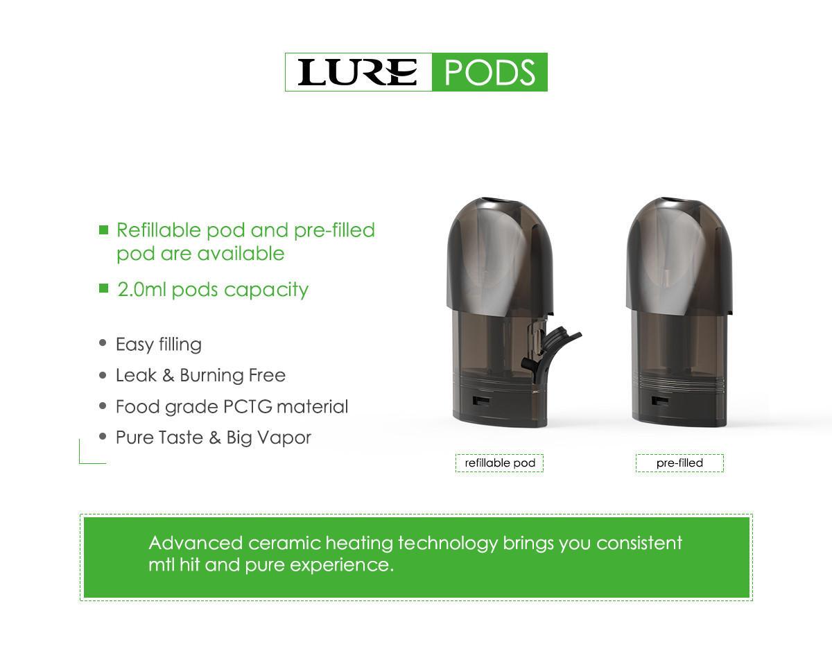 2.0mL Lure pod capacity