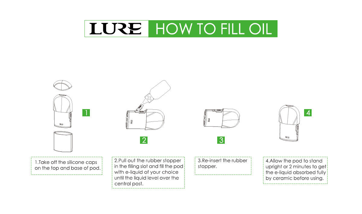 how to fill open pod vape kit